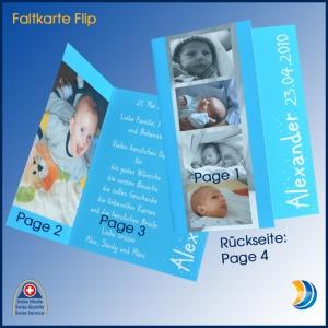 Foto-Faltkarte Flip Hoch