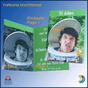Foto-Faltkarte Hoch