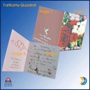 Foto-Faltkarte Quadrat