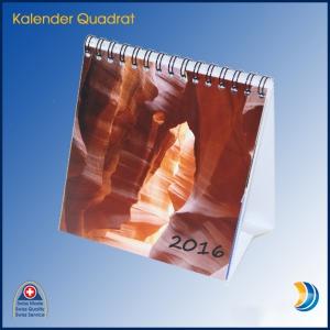Tischkalender Quadrat klein