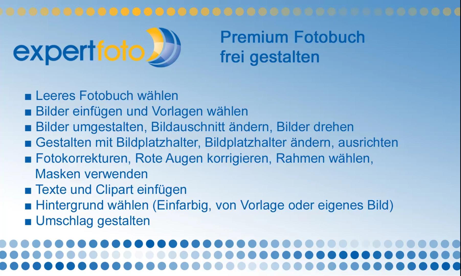 Fotobuch frei gestalten - expertfoto.ch